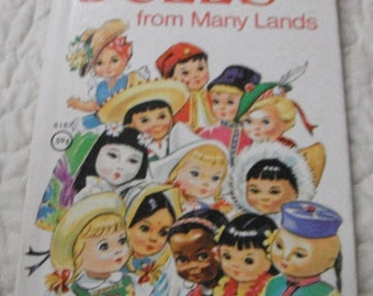 Dolls From Many Lands Vintage  Rand McNally Junior Elf Book