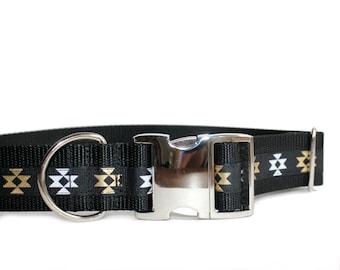 "Aztec Dog Collar, 1.5"" Wide Dog Collar, Unique Wide Dog Collars"