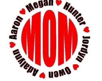 MOMogram vinyl Decals MOM NANA Mothers day gifts