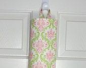 Plastic Bag Holder Grocery Bag Storage Kitchen Bag Storage Pink Green Damask