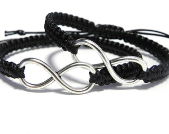 Couples Infinity Bracelets, Anniversary Gift, Long Distance Relationship Bracelet, Matching Couples Bracelets, Gift For Him, Gift For Her