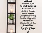 In This House We Do Disney - House Rules Vinyl Wall Decal Sticker for Home - Made in the USA - Ships Worldwide Wall safe interior vinyl