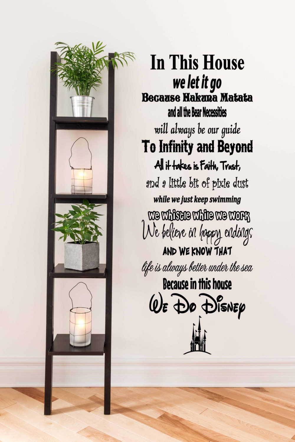 In This House We Do Disney House Rules Vinyl Wall Decal - House rules wall decals