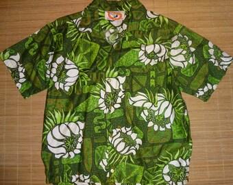 Vintage 60s Go Barefoot Bowling Style Hawaiian Shirt - M - The Hana Shirt Co