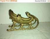 On Sale Hubley Toy Co. Victorian Cast Iron Sleigh With Griffon Heads (1910)