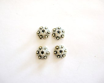 Bead Caps, Pewter Bead Caps, Silver color Bead Caps, Jewelry Making, Beading, Supplies