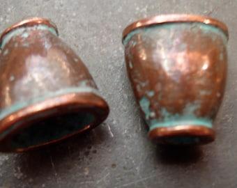 Copper Patina Bead Caps