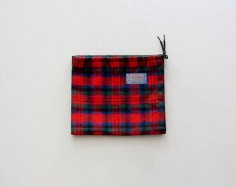Vintage Pendleton Drawstring Bag / Sack / Pouch / Satchel