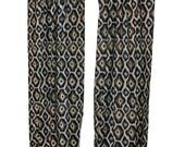 SALE Ikat Curtains- Pair of Drapery Panels- Premier Prints Adrian Curtains- 63 84 96 108 120 inch Drapes- Indigo Blue Window Treatments