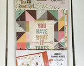 Carpe Diem The Reset Girl A5 Monthly Inserts (36 A5 Inserts per pkg) by Simple Stories, Snap product for A5 or mini planners, for planning