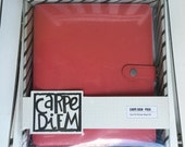 Carpe Diem Posh Planner Boxed Set by Simple Stories, A5, Coral, leather, 4 interior pockets, 2 side pockets, Split Leather Lining, charm