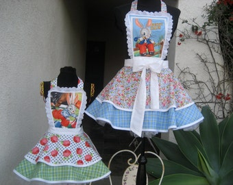 Bunny Tales Mother & Daughter Hostess Aprons