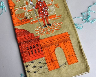 London Sites - Lamont Irish Linen Tea Towel