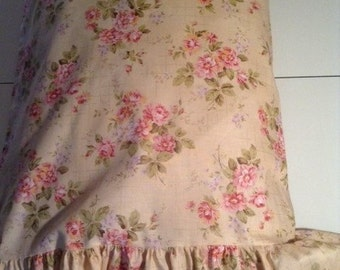 Shabby Chic Pillow Case /Cover with Ruffle or without Ruffle