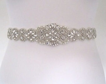 Crystal Bridal sash wedding dress belt sash