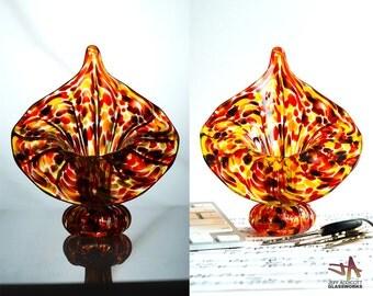 Hot / Tortoise Mix Jack In The Pulpit Vase