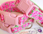 Lilly Pulitzer HPFI Inspired Dog Collar / Lilly Pulitzer Hotty Pink First Impression Inspired Dog Collar / Lilly Pulitzer Inspired Pet