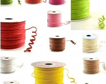 Paper Cord Wired Flexible Tourbillon Craft Cord 50 meters One Roll