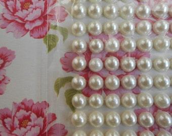 Adhesive Pearls Ivory