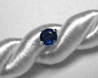 Kyanite Single Stud Earring in Silver, 4 mm