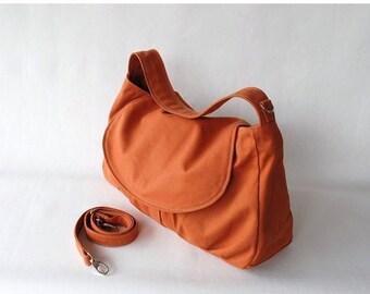 Back To School SALE 30% - Fortuner in Pumpkin (Water Resistant) Purse / Laptop / Shoulder bag / Messenger Bag / Handbag/Diaper Bag/ School B