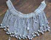 vintage metal tribal asian tibetan necklace