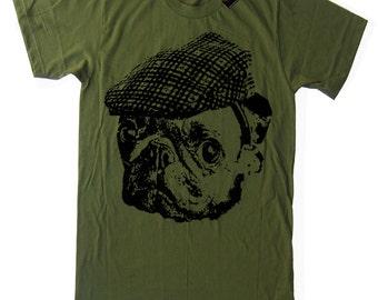 Mens Pug Hooligan T Shirt - American Apparel Tshirt - S M L Xl and Xxl (28 Color Options)