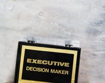 Vintage Office Executive Decision Maker Coin Flip
