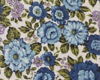 Vintage Desley Tailored Blue Floral Cottage Shabby Chic Bedspread
