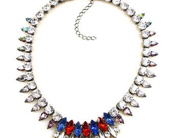 Luxury Swarovski Navette Rhinestone Necklace - AMERICAN GYPSY PRINCESS