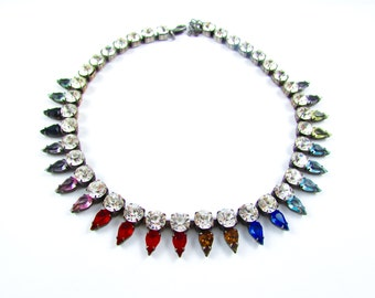 Luxury Swarovski Navette Rhinestone Necklace - SPRING BLISS