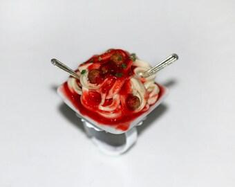 Italian Food Ring - Tagliatelles Ring - Pasta Ring - Food Ring - kawaii ring - Miniature Food Jewelry
