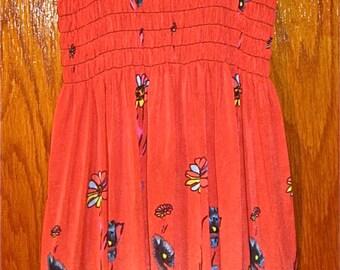 70s Inspired Daisy Sundress