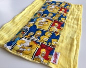 The Simpsons, Squares, Yellow, Burp Cloth