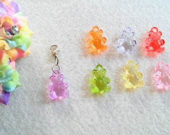 10 Multicolors Bear Party Favors.