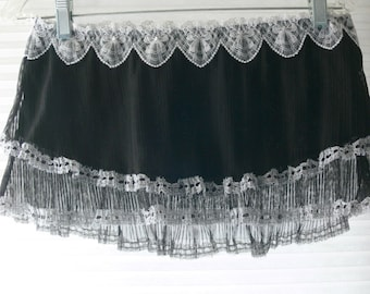 black short skirt size med