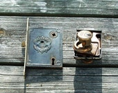 2 Vintage Locksets, Yale Locksets, Patent July 21, 1863 Yale Lock Set Antique Locksets Door Hardware