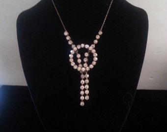 Now On Sale Art Deco Rhinestone Necklace ** 1920's 1930's Collectible Antique Jewelry