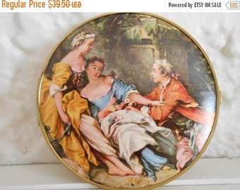 Now On Sale Vintage Art Deco Compact Mirror 1940's Vanity Collectible Made In West Germany