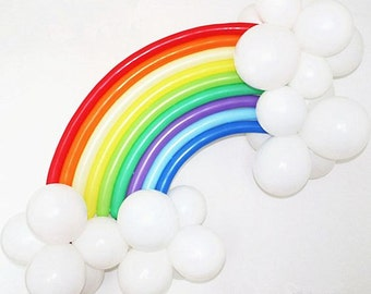 Balloon Rainbow Balloon Rainbow Party Decoration Rainbow Backdrop Rainbow Photo Prop LGBTQ Rainbow Banner Unicorn Party Decoration DIY Kit
