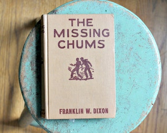 vintage hardy boys book the missing chums