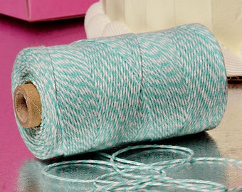 Teal & White Duo 4-ply 100% Cotton Baker's Twine (Free Shipping!)