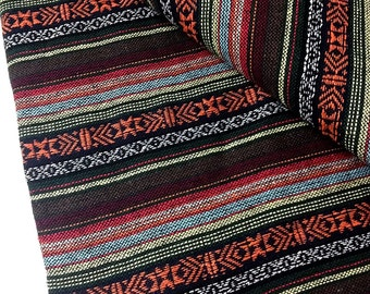 Thai Woven Cotton Fabric Tribal Fabric Native Fabric by the yard Ethnic fabric Aztec fabric Craft Supplies Woven Textile 1/2 yard (WF54)