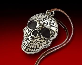 Skull Pendant, Stainless Steel, Skull Pendant, Skull Necklace, Human Skull, SLT-1