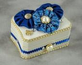 Fabric Covered Trinket Box