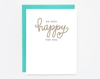 So Very Happy For You Greeting Card
