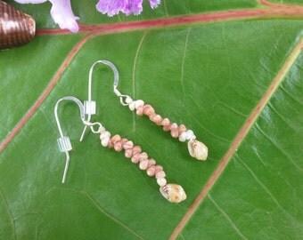 Kauai Kahelelani Shell Earrings Kahelelani Shells Momi Shell Earrings Traditional Island Jewelry - Seashell Earrings