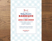 Printable Baby Shower Barbeque Invitation, BabyQ Invitation, Baby Girl, Baby Boy, Gender Neutral