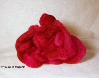 Felting Wool: FW-67 Deep Magenta