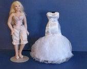 1/12 Scale Dollhouse Miniature Wedding Dress